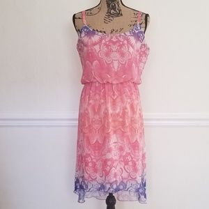 Maurices butterfly print dress excellent condition